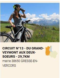 Parcours cyclo Trieves Balcon Est Vercors